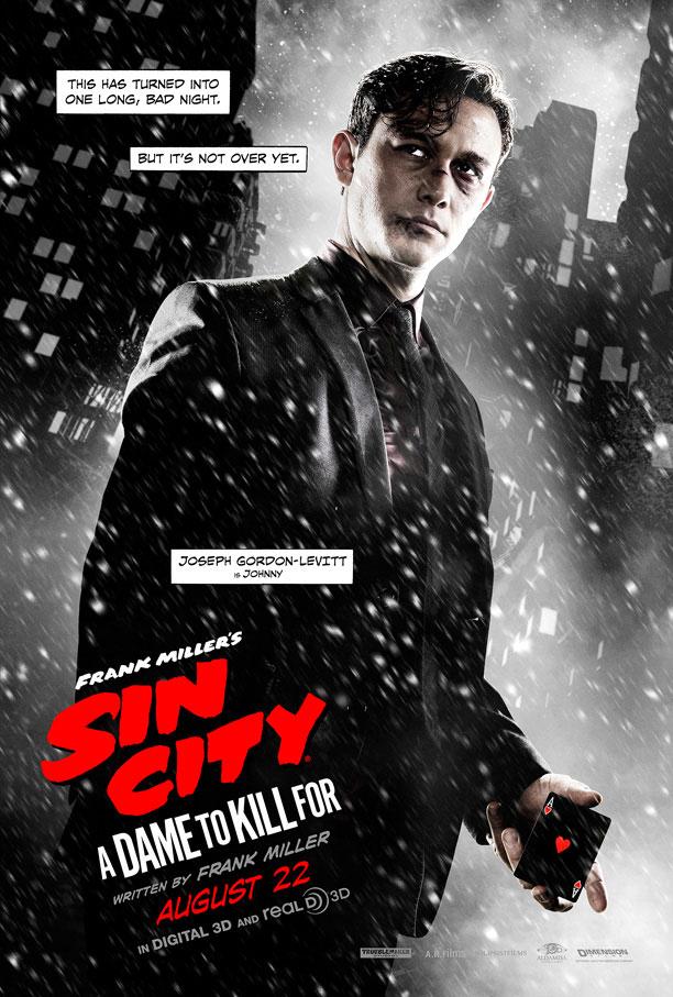 Johnny en un nuevo cartel de Sin City: A Dame to Kill For