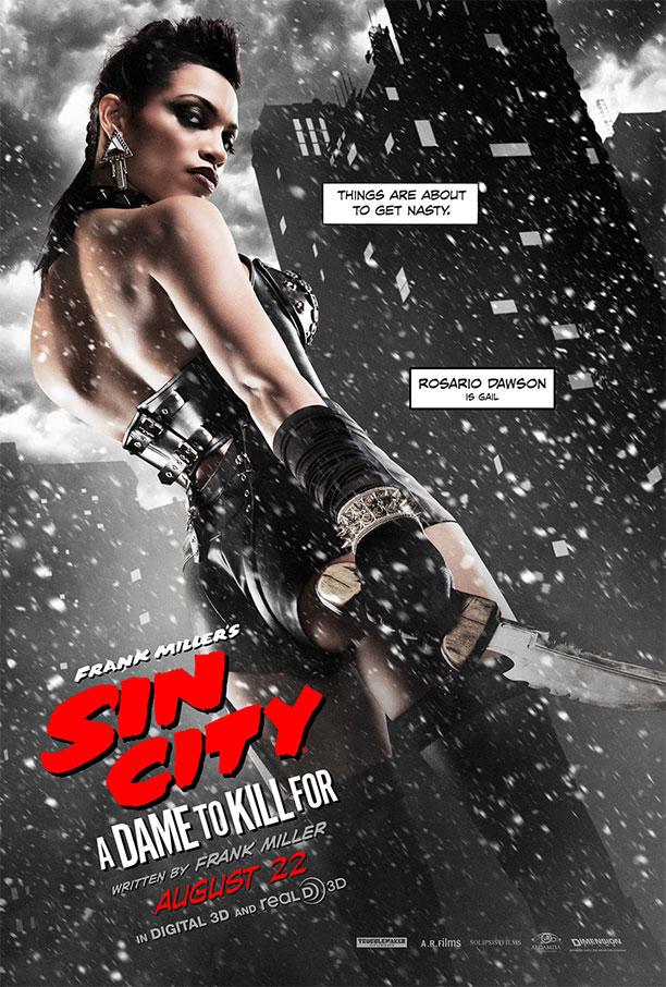 Gail en un nuevo cartel de Sin City: A Dame to Kill For