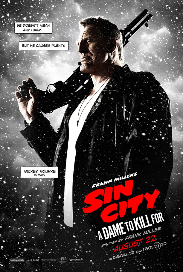 Marv en un nuevo cartel de Sin City: A Dame to Kill For