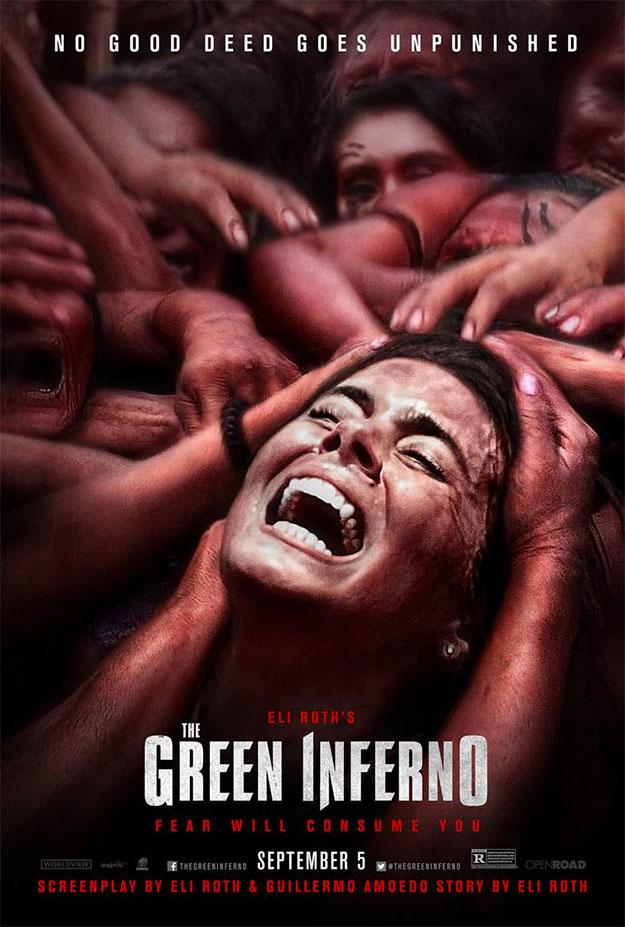Un nuevo cartel de The Green Inferno llegado de Fandango
