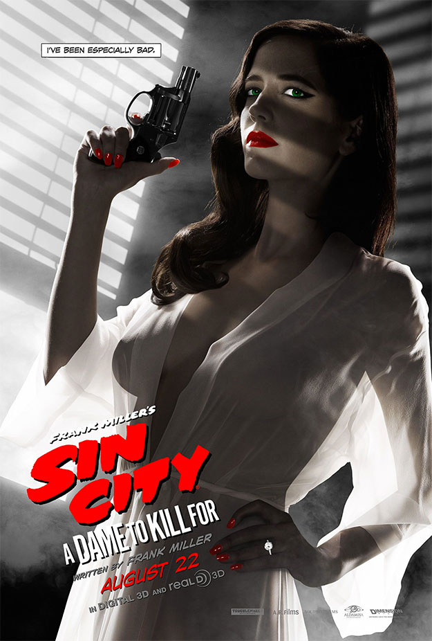 Si tienes un trailer Red Band usa un cartel Red Band... Sin City: A Dame to Kill For