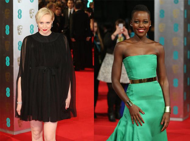 Gwendoline Christie y Lupita N'Yongo en los pasados premios Bafta