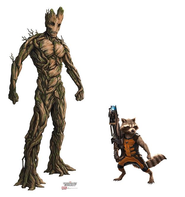Groot y Mapache Cohete, los que seguramente marcarán la diferencia