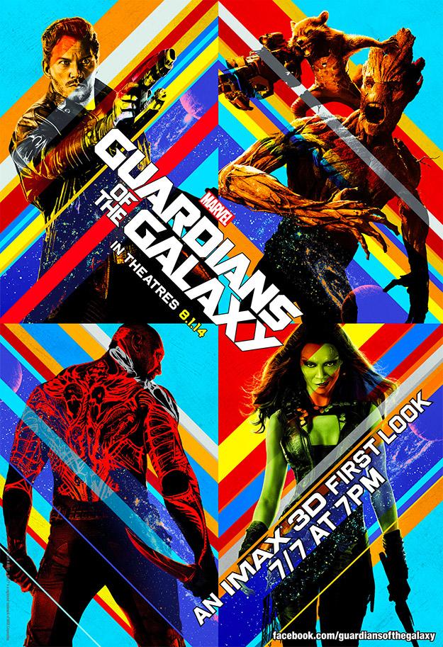 Cartel IMAX psicotrópico de Guardianes de la Galaxia