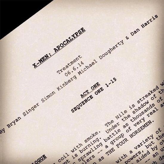 La primera página de guión de X-Men: Apocalypse tiene secretos