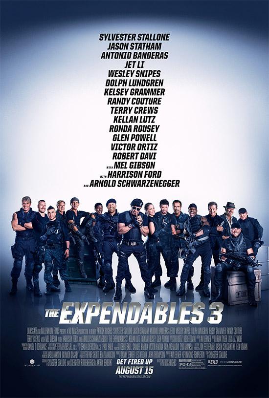 El cartel final de The Expendables 3