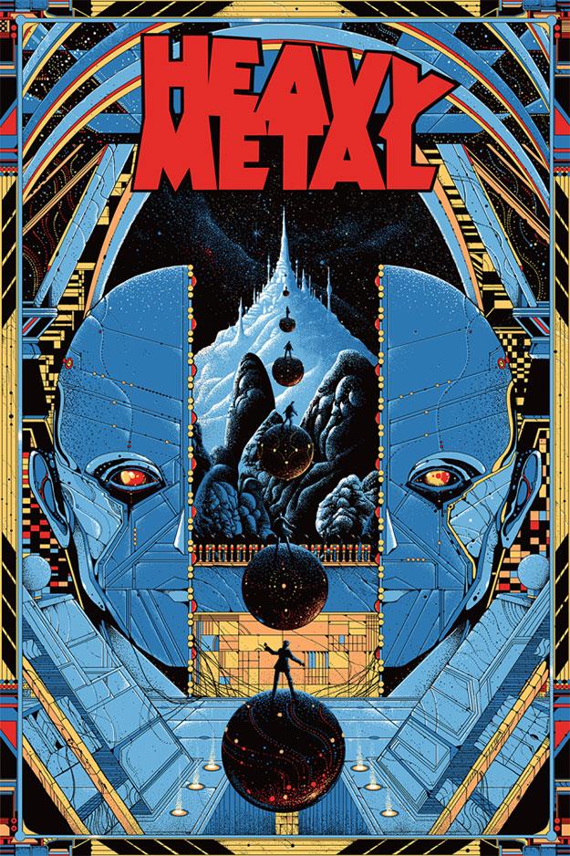 Cartel mondo para la nueva película Heavy Metal que se está planeando