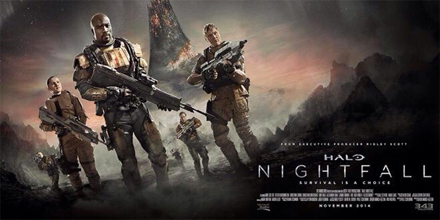 "Un banner normalito de ""Halo: Nightfall"""