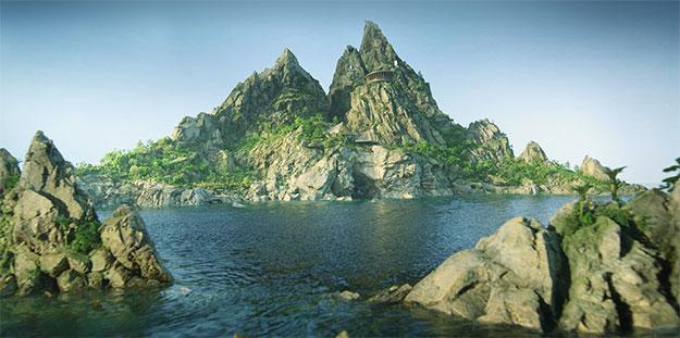 Tracy Island... desde aquí actúan los Thunderbirds!
