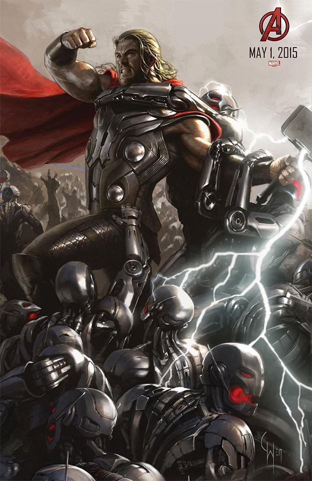 Thor versus muchos más Ultrones