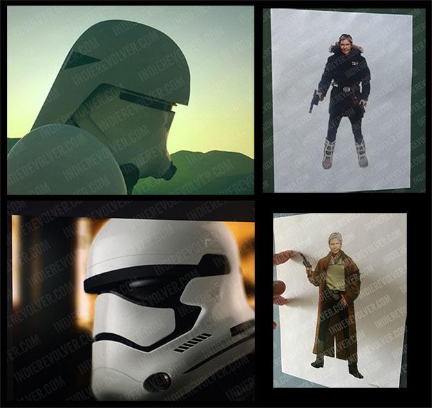 Diseños de Snowtrooper, Stormtrooper y ropa de Han Solo para Star Wars: Episode VII