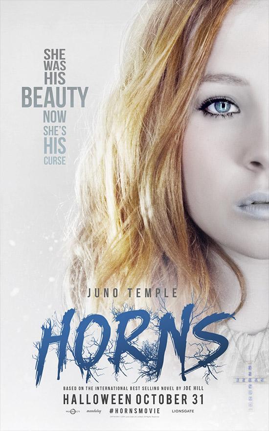 Nuevo cartel de Horns con Juno Temple como centro de las miradas
