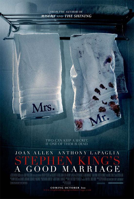 Toallas sucias en el cartel de A Good Marriage