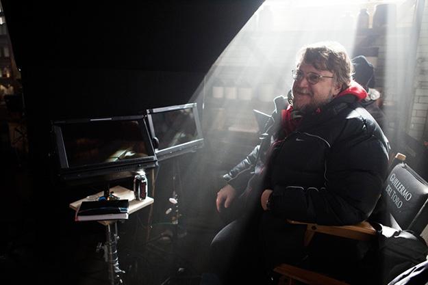 Guillermo del Toro en el rodaje de Crimson Peak