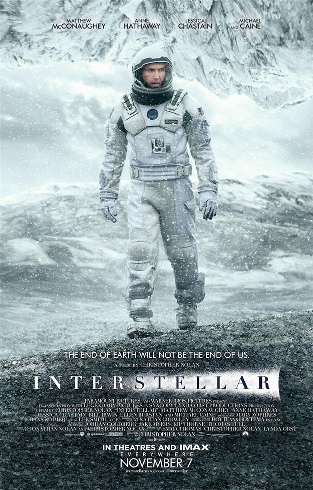 El nuevo cartel de Interstellar o el viaje de Matthew McConaughey