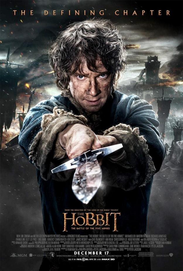 El primer cartel de personajes, Bilbo, para El Hobbit: La Batalla de los Cinco Ejércitos