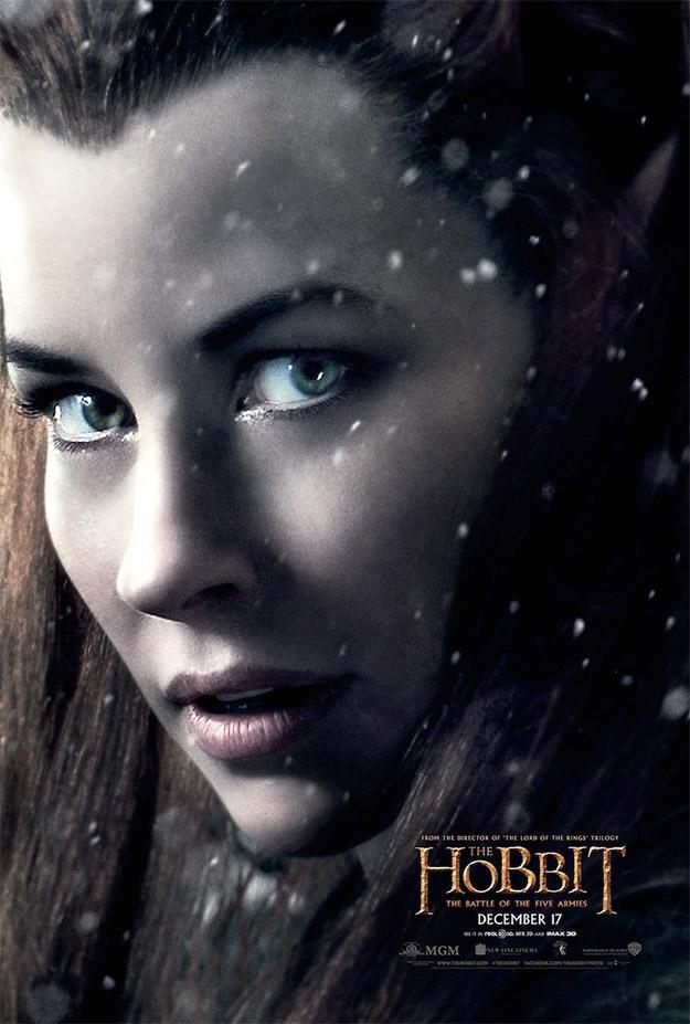 Cartel de Tauriel para El Hobbit: La Batalla de los Cinco Ejércitos