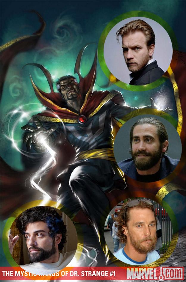 Un collage con todos los nuevos nombres que nunca se barajaron hasta ahora para ser Doctor Strange