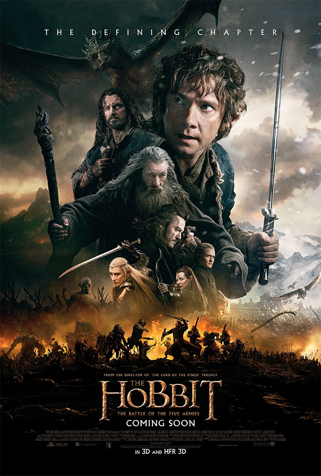 Cartel final de El Hobbit: La Batalla de los Cinco Ejércitos vía The Lebanese Cinema Movie Guide