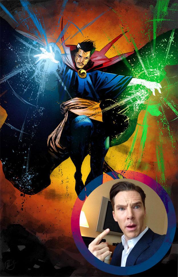 Que sí Benedict... que eres el elegido para ser Doctor Strange
