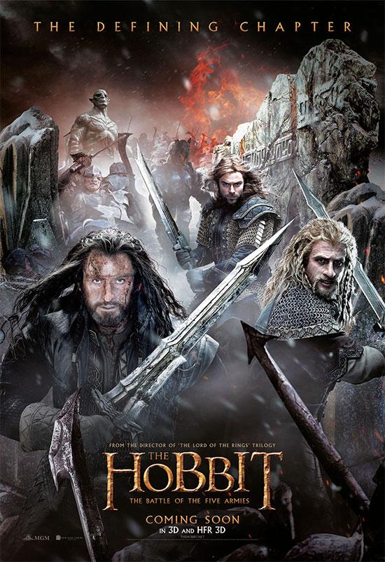 Otro cartel más, se pasa de peleón, de El Hobbit: La Batalla de los Cinco Ejércitos