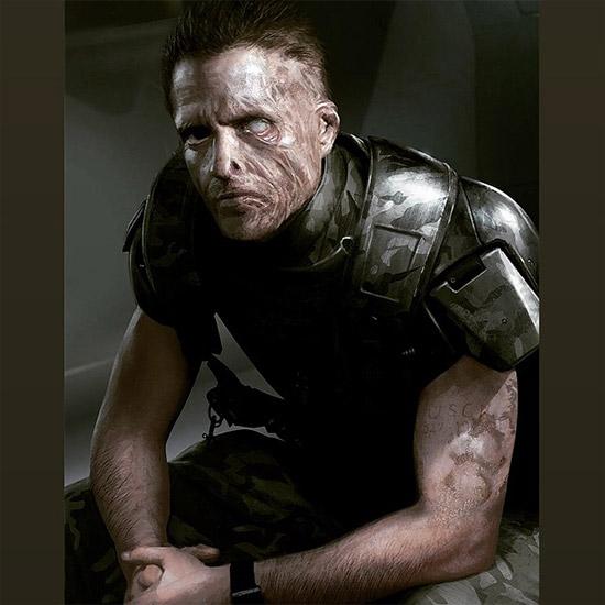 Probablemente el retorno más esperado... Hicks desfigurado tras su encuentro de Aliens: el regreso