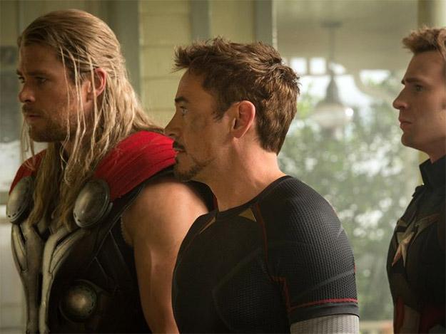 Thor, Iron Man y medio Capitán América en su guerra contra Ultrón