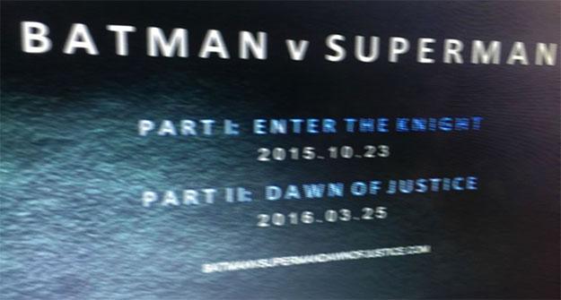 La foto que dará que hablar... ¿Batman v Superman dividida en dos?
