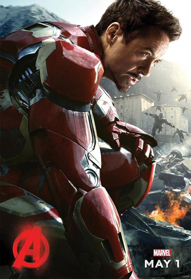 Primer cartel de personaje de Vengadores: La Era de Ultrón. Iron Man