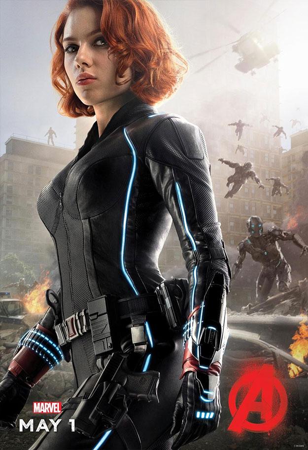 Otro cartel de personaje de Vengadores: La Era de Ultrón. La Viuda Negra