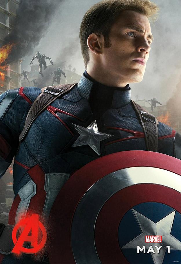 Un nuevo cartel de Vengadores: La Era de Ultrón... Capitán América