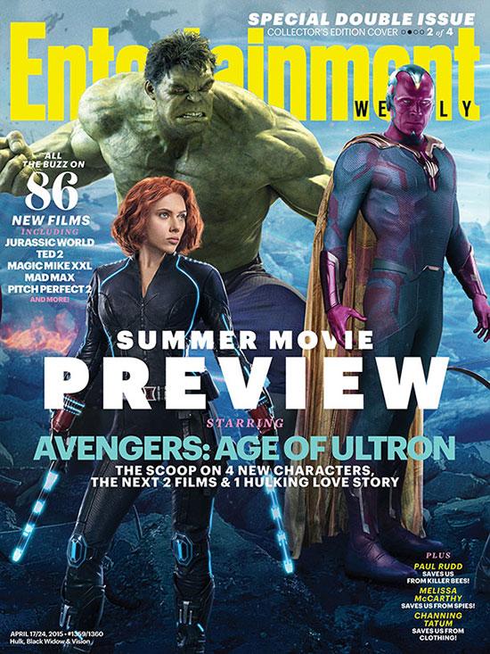 Portada para Hulk, la Visión y Black Widow... más spoilers