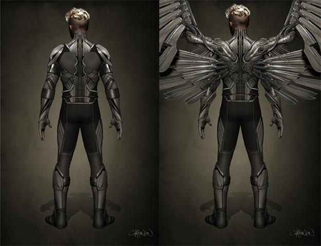 Concept art de Ángel para X-Men: Apocalypse... encarnado por Ben Hardy