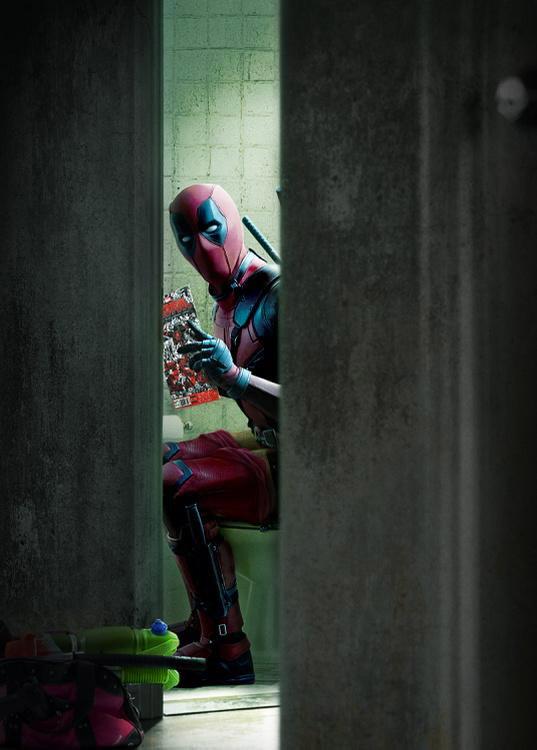No me parece muy correcto molestar a Deadpool en estos momentos de intimidad