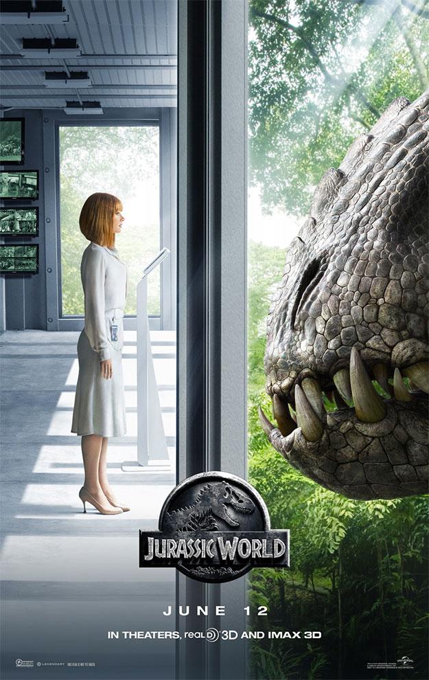 Uno de los nuevos carteles de Jurassic World
