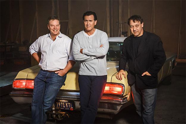 """Se pone en marcha """"Ash vs Evil Dead"""" con cuatro viejos amigos: Robert Tapert, Bruce Campbell, Sam Raimi y un Oldsmobile de 1973"""