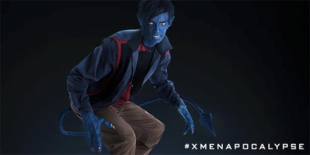 Rondador Nocturno AKA Nightcrawler en X-Men: Apocalypse pose promo 100%