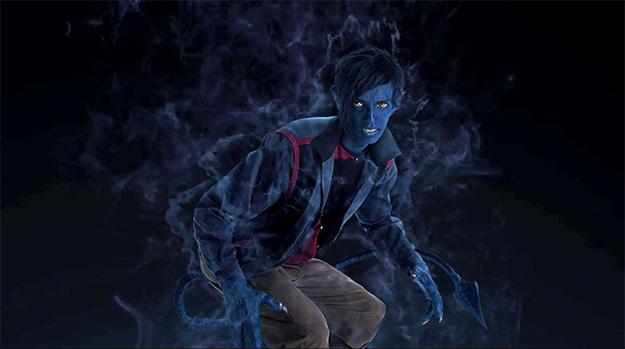 Rondador Nocturno AKA Nightcrawler en X-Men: Apocalypse pose teletransporte