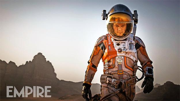 Matt Damon como Mark Watney y perdido en Marte