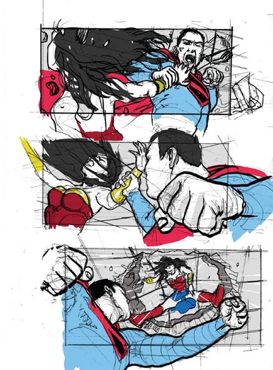 Superman vs. Wonder Woman en Justice League Mortal