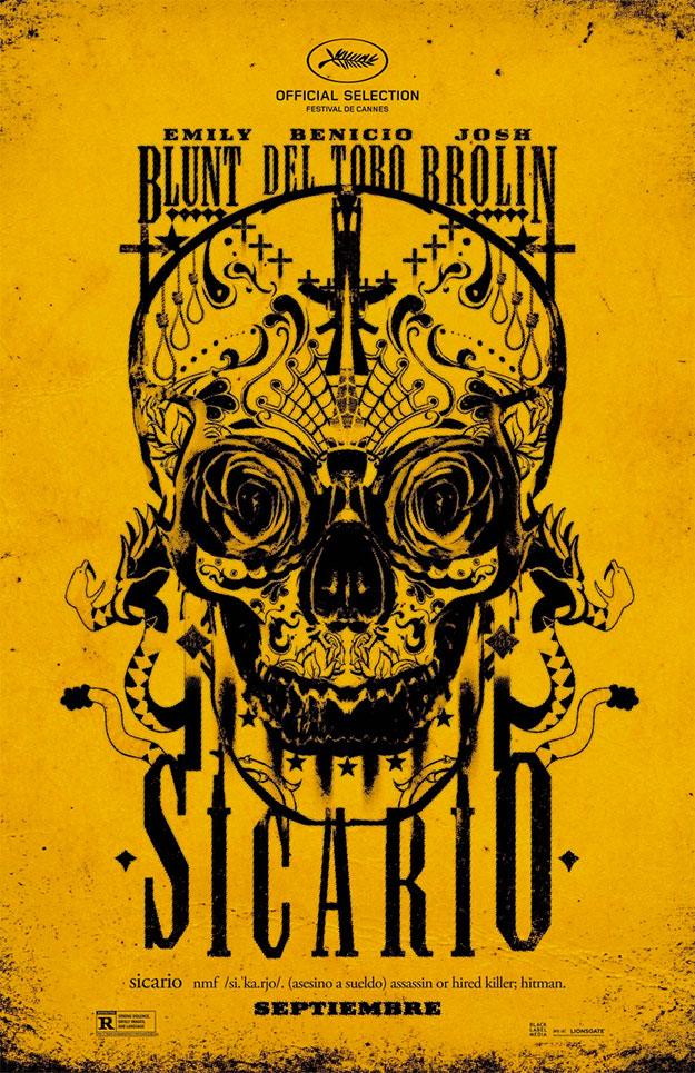 Genial cartel de Sicario de Denis Villeneuve