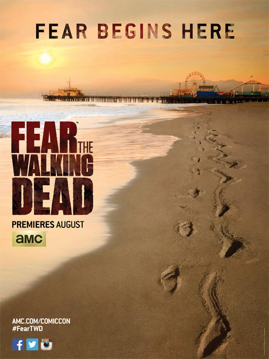 "Primer cartel de ""Fear the Walking Dead"""
