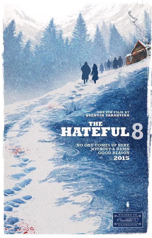 Fabuloso póster de The Hateful Eight de Quentin Tarantino