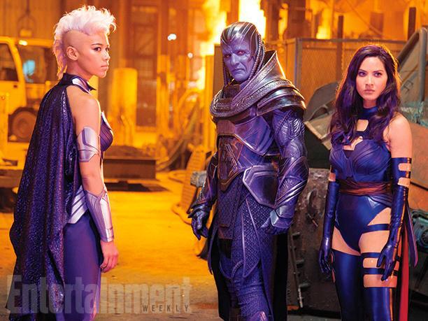 Ororo Munroe / Storm (Alexandra Shipp), En Sabah Nur / Apocalypse (Oscar Isaac), y Betsy Braddock / Psylocke (Olivia Munn)