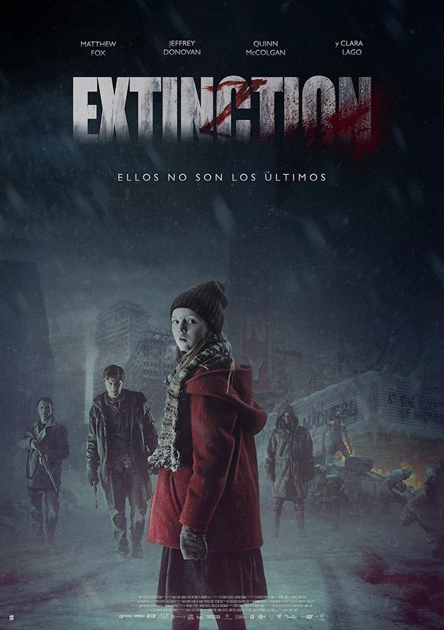Cartel español de Extincion, estreno en cines el 14 de agosto