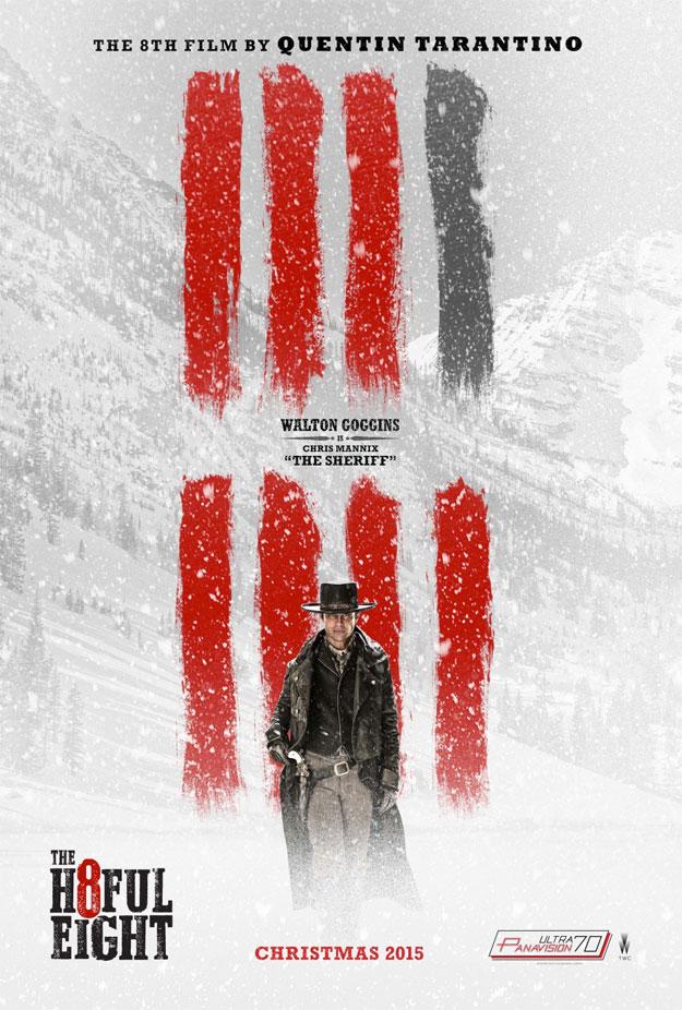 "Walton Goggins como Chris Mannix AKA ""The Sheriff"""