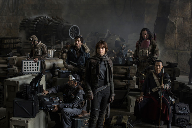 Star Wars Anthology: Rogue One. Riz Ahmed, Diego Luna, Felicity Jones, Jiang Wen y Donnie Yen