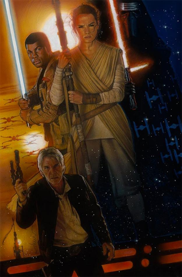 El cartel de Star Wars: El Despertar de la Fuerza por Drew Struzan