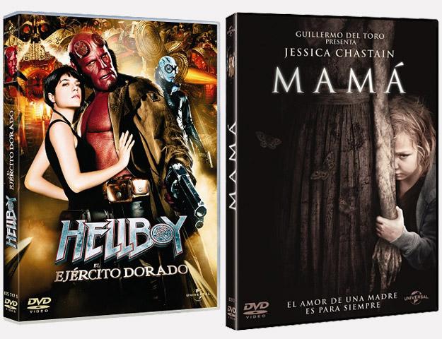 Las carátulas de los DVDs con Guillermo del Toro como mente maestra tras su producción