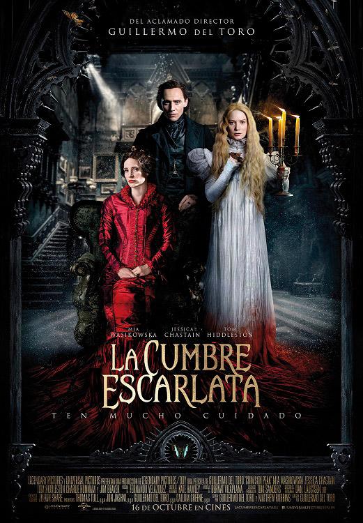 El carte del La Cumbre Escarlata de Guillermo del Toro